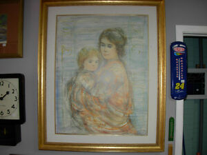 "(REDUCED)Edna Hibel Litho 44 1/2"" x 36 1/2"" Cambridge Kitchener Area image 1"