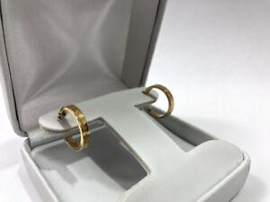 Boucles d'oreilles en or jaune 14 Carats Seulement 99.95$!