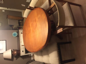 """MCM 7""""5 Teak Dining Table and 4 chairs"""