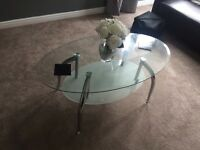 Glass Coffee Table & Glass Side Table £30