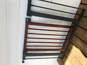 Munchkin, wood and steel baby gate
