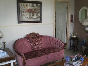 causeuse et chaise antique a vendre a