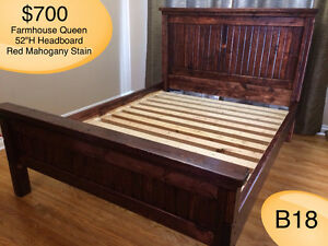 SOLID WOOD QUEEN BED W/ HEADBOARD, FOOTBOARD, RAILS AND SLATS Kingston Kingston Area image 3