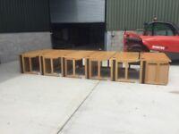 Oak 1600 cantilever office desk