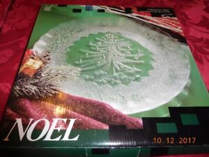 Christmas tree glass platter