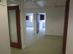 Bright corner office with free parking