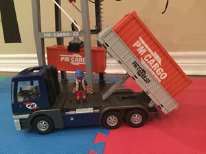 Playmobil Loading Terminal and Cargo Truck with container Oakville / Halton Region Toronto (GTA) image 2