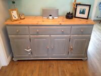 Pine sideboard dresser shabby chic unit