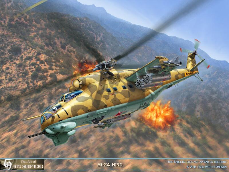 ART PRINT:  Mi-24 Hind - Print by Shepherd