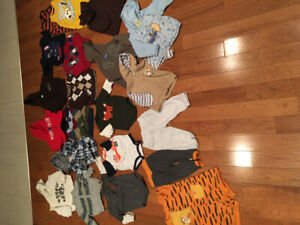 12m boy clothing 30$ for all