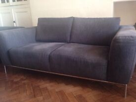 Two Grey Natuzzi Sofa's Will sell Separately 3 & 2