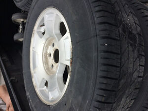 LT235/70R17 tires and rims