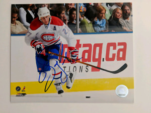 Montreal NHL signed 8x10 $15 each/chaque autograph photos