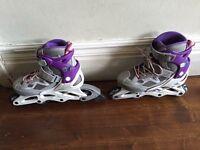 Décathlon Oxelo inline skates purple