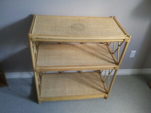 Solid bamboo three tier shelving unit bookcase London Ontario image 4