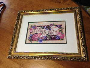 Powder room picture frame