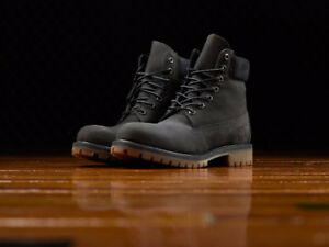 Timberlands MEN'S 6-INCH PREMIUM WATERPROOF BOOTS (Dark grey)