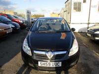 2009 Vauxhall Corsa Hatch 5Dr 1.2 16V 80 Active Petrol black Manual