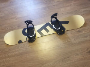 YES Snowboard with Mission bindings