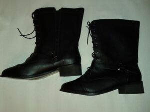 WOMEN'S LEATHER WINTER BOOTS   SIZE   10 – WIDE CALF