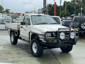 2003 Toyota Hilux LN167R (4x4) White 5 Speed Manual 4x4 Cab Chassis Clyde Parramatta Area Preview