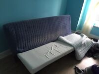 Sofa bed with mattress and cover