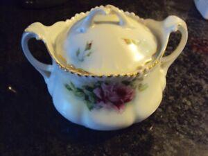 Antique biscuit jar, tea caddy