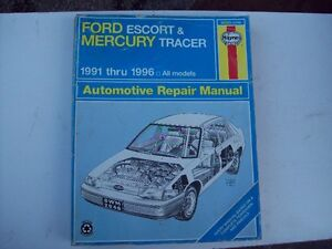 Haynes Ford Escort Mercury Tracer service repair manual