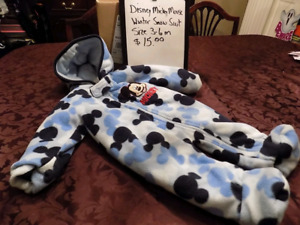 MICKEY MOUSE SNOW SUIT- SIZE 3-6 MONTHS