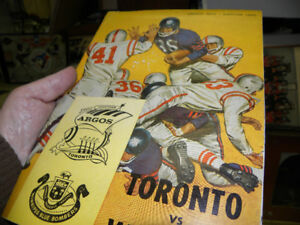 !960-2 Toronto Argos Program vs. Winnipeg Blue  Bombers