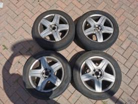 VW Beetle /Golf Alloy wheels KBA44966 with tyres 205/55/16 5x100