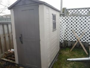 4 x 6 Keter Factor  plastic- composite shed- has 7yr warranty