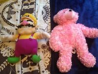 Glow in the dark teddy and Wario