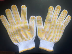 poly/cotton dotted working gloves
