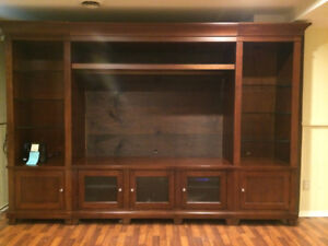 Entertainment unit and desk (solid wood) $100