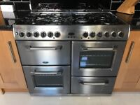 Belling Kensington KDF100 Satin Steel range cooker