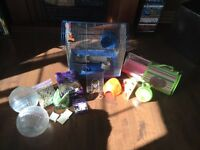 SOLD-Hamster cage and supplies