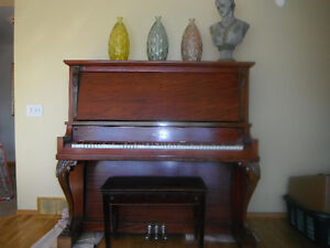 dominion upright piano with bench