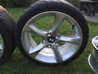 BMW E46 18 inch twisted alloys