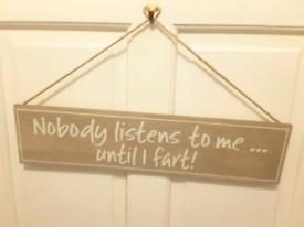 New Wooden hanging door sign