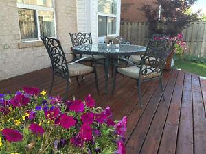 6 piece rod iron patio set