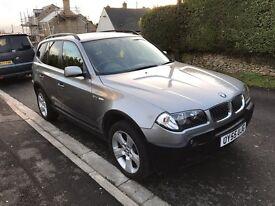 BMW X3, 2005, Grey, 2 litre, Full Service History, Full Black Leather Interior.