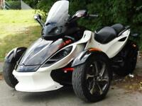 14/14 CAN-AM SPYDER ROADSTER RSS SE5 SEMI AUTO TRIKE 6,000 MILES