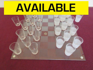 Shot Glass Checkers Set / Chess Board