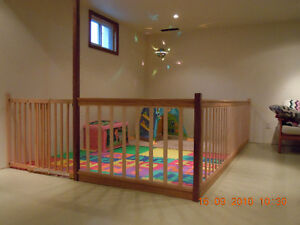custom secure play area for tots