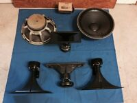 EV speaker components - woofers - horns - drivers