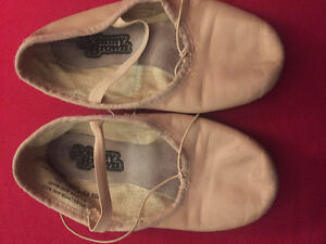 Leather Johnny Brown Ballet Slippers