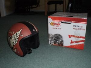 Open Faced Retro Helmet Never Worn