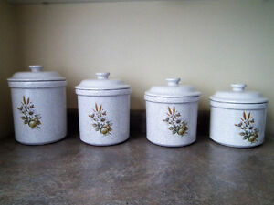 Blue Mountain Pottery Canister Set