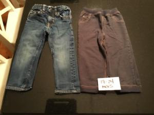 Pantalons 18-24 mois